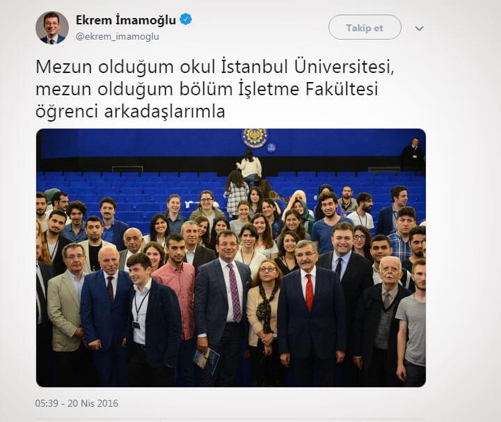 Mehmet Sekmen ve İmamoğlu
