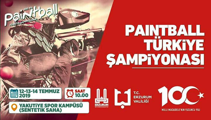 Erzurum'da Paintball Türkiye Şampiyonası