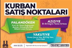 Erzurum'da Kurban Satış Noktaları!