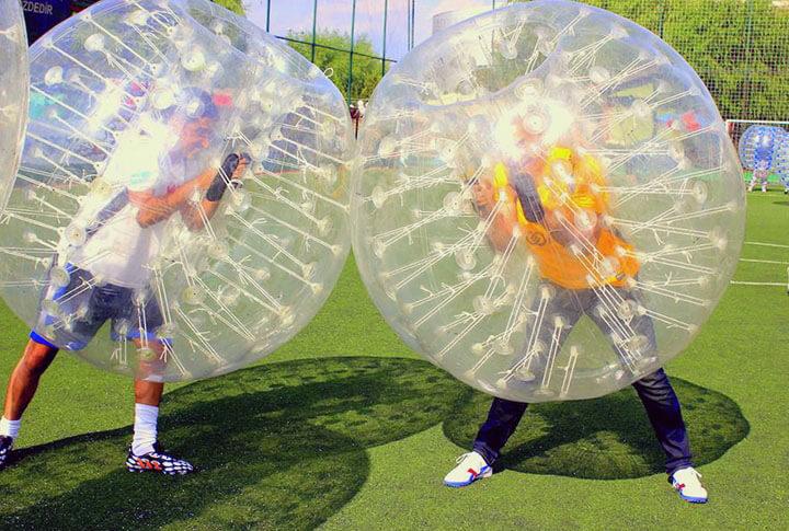 Erzurum'da Futbolu En Eğlenceli Hali Balon Futbolu! İşte Görüntüler