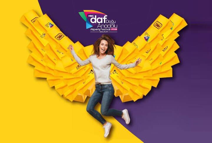 Sürprizlerle MNG AVM Doğu Anadolu Alışveriş Festivali (DAF) Başlıyor