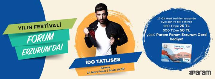İdo Tatlıses Konseri Forum Erzurum'da