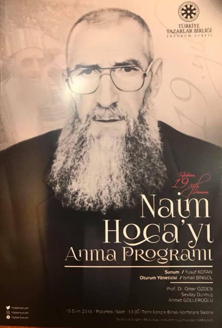 Erzurumlu Naim Hocayı Anma Programı