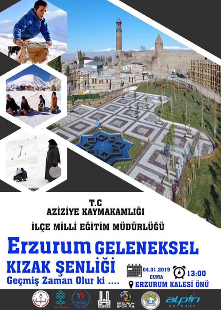 Haydi Erzurum Kızak Kaymaya!