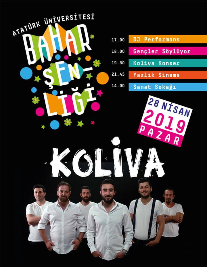 Atatürk Üniversitesi Bahar Şenliği 28 Nisan Pazar Programı