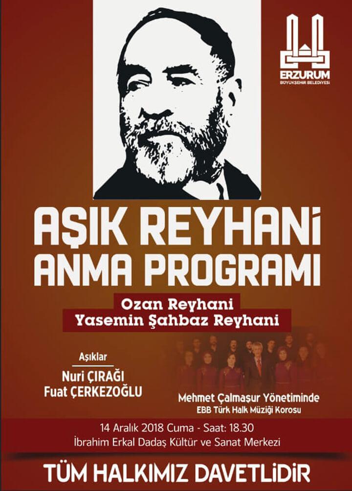 Aşık Reyhani Anma Programı