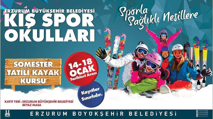 Erzurum Sömestr Tatili Kayak Kursu