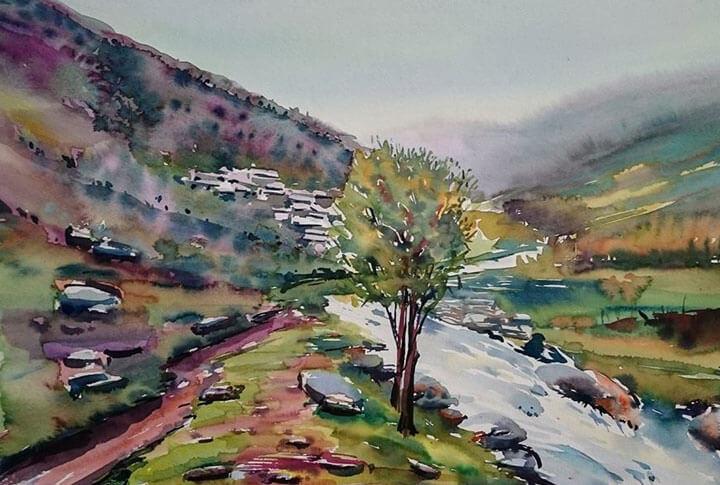 Watercolor Suluboya Erzurum Çizimleri