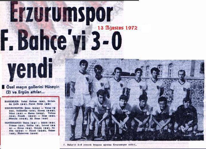 Erzurumspor Fenerbahçe