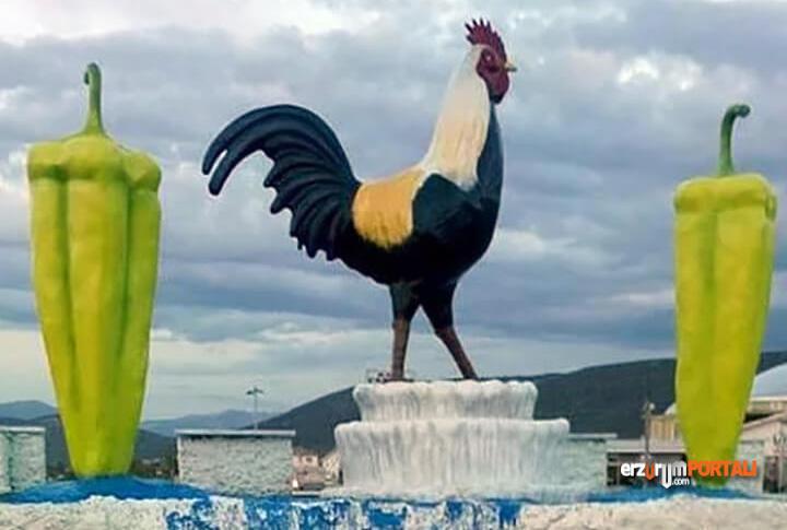 Denizli Horoz Tarverter Biber Heykeli