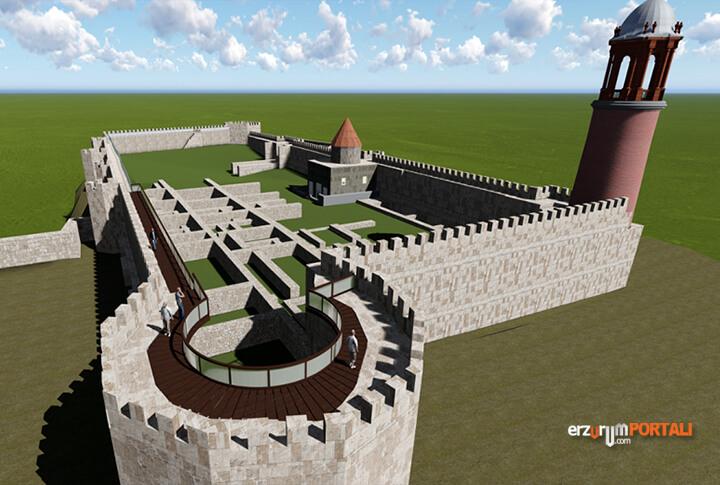 Erzurum Kalesi Mazgal Burç