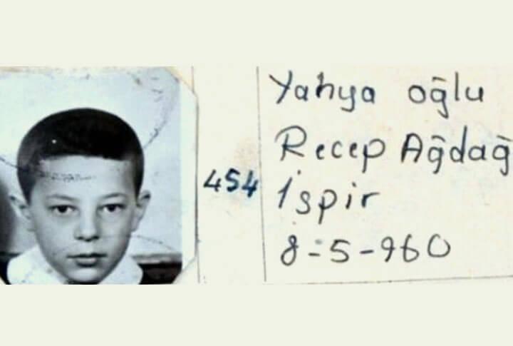 Recep Akdağ'ın Çocukluk Fotoğrafı
