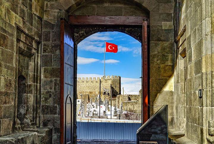 Mavi Beyaz Erzurum Kalesi