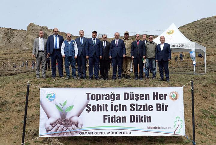 Erzurum Ağaç Dikimi Şehitlere Vefa