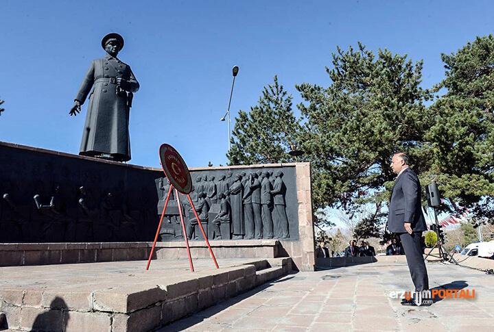 Erzurum'da 29 Ekim Cumhuriyet Bayramı Töreninden Kareler!