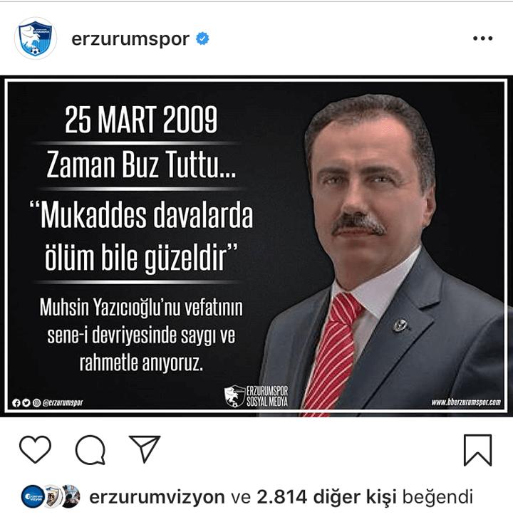 Erzurumspor Muhsin Yazıcıoğlu'nu Unutmadı