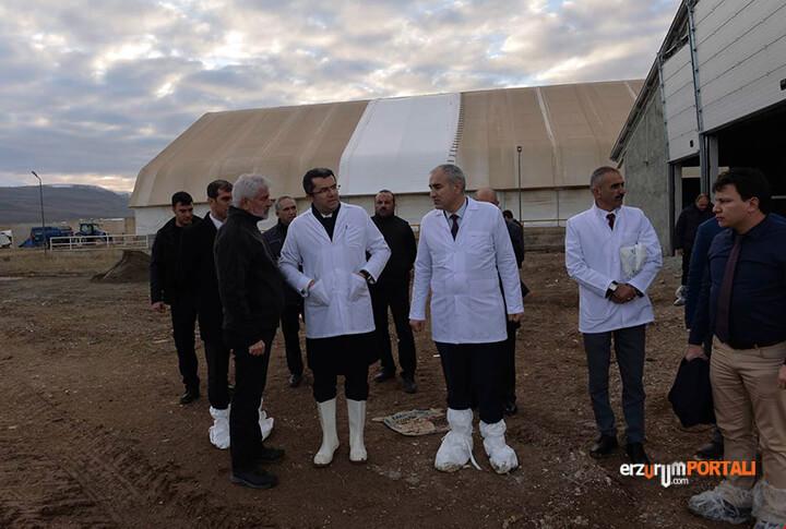 Erzurum Valisi Sahaya İndi!