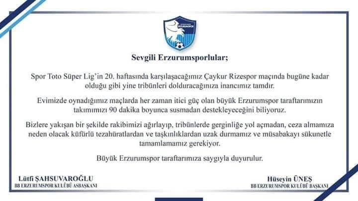 Erzurumspor Sevdalıları