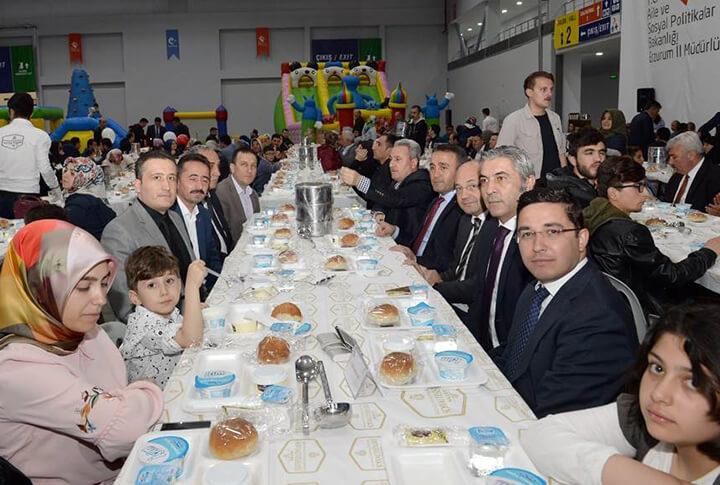 Erzurum'da Şehit ve Gazi Ailelerine İftar Yemeği