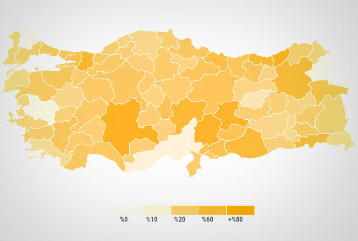 Yerel Seçimlerde Türkiye Geneli Erzurum