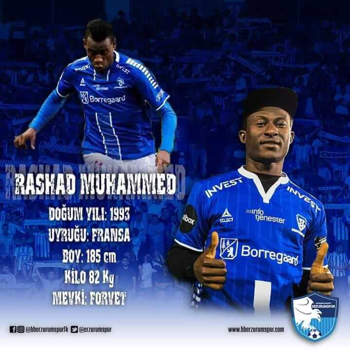 Erzurumspor Forvetini Buldu, Rashad Muhammed!