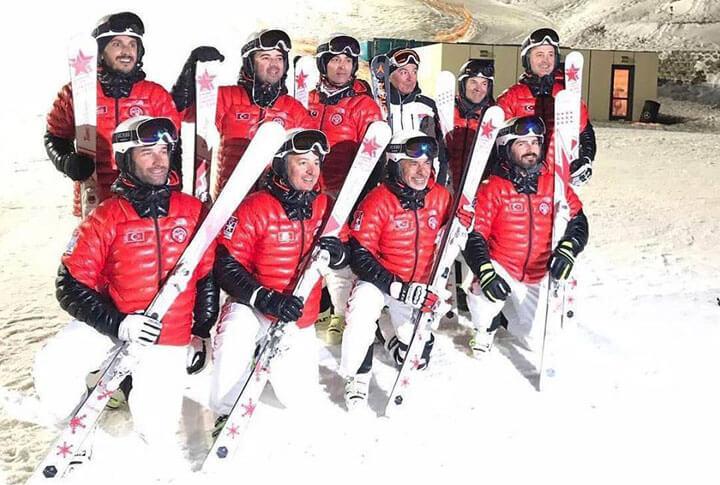 Palandöken Türkiye Senkronize Kayak Milli Takımı Kampı