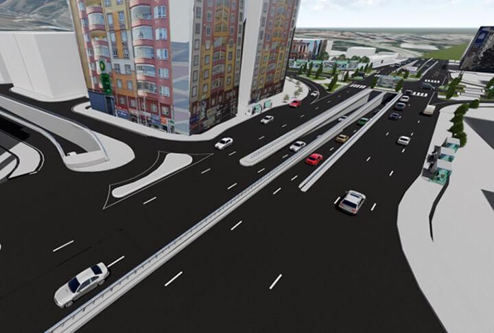 Erzurum Gez Mahallesi Köprülü Kavşak Projesi