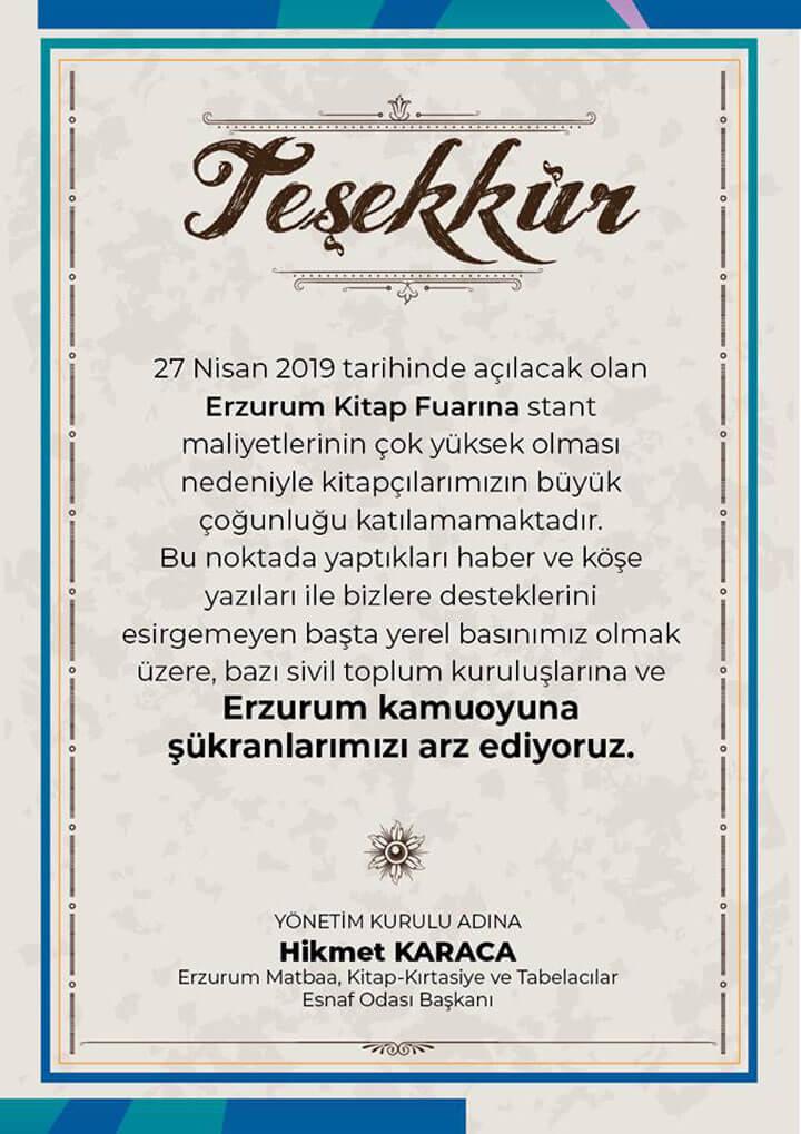 Erzurum'da Kitap Fuarı Stant Maliyeti Engeli