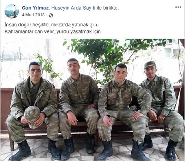 Erzurumlu Şehit Can Yılmaz