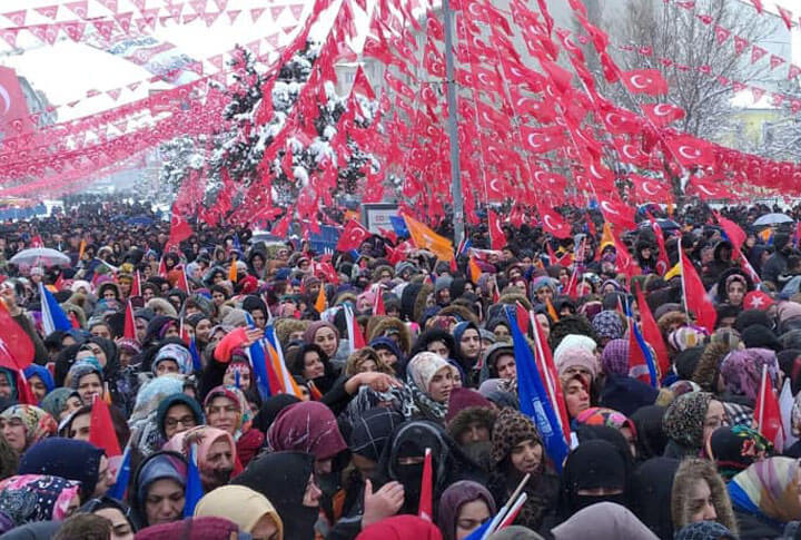 Erdoğan'ın Erzurum Mitingi